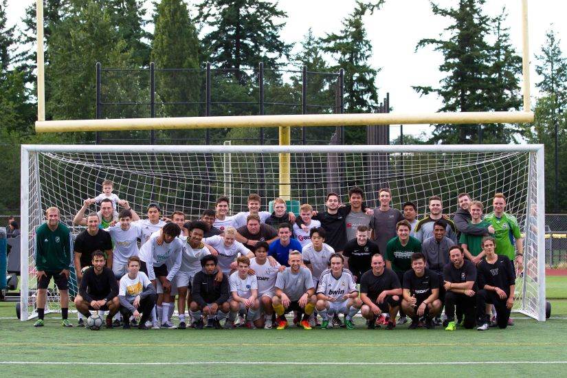 rhs boys soccer- alumni game 2019